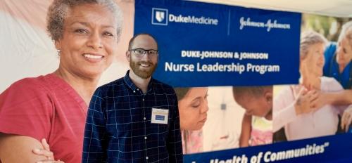 Dan Crawford attends the welcome event for the Duke - Johnson & Johnson Nurse Leadership Program in 2019