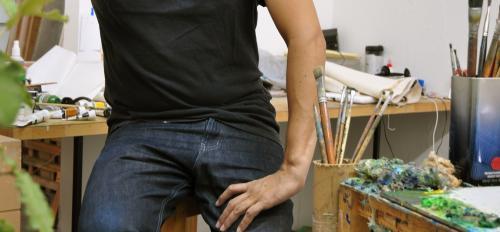 portrait of man in studio