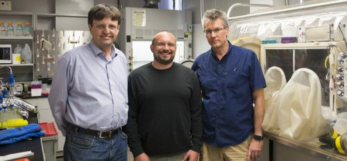 Scientists from ASU's School of Molecular Sciences Raimund Fromme, Christopher Gisriel and Kevin E. Redding