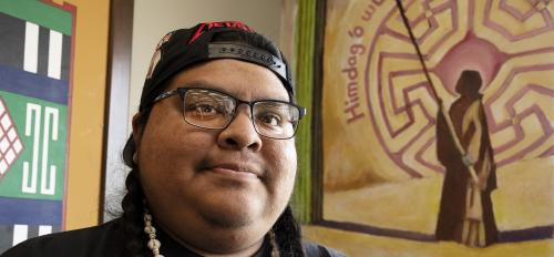 Napoleon Marrietta, a graduate student in The College's American Indian Studies program, grew up not far from the Tempe campus on the Gila River Indian Community.