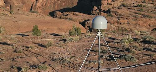 GPS crustal monitoring instrument at Canyon de Chelly, Arizona