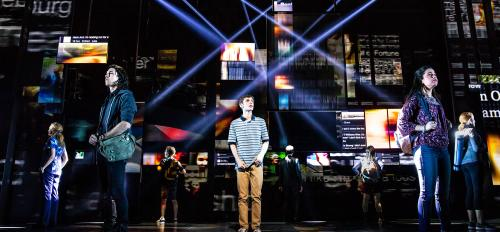 "stage production of ""Dear Evan Hansen"""
