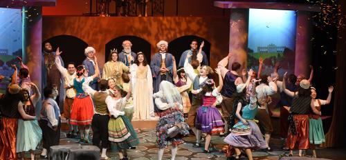 "Cast members of Lyric Opera Theatre's ""The Magic Flute"""