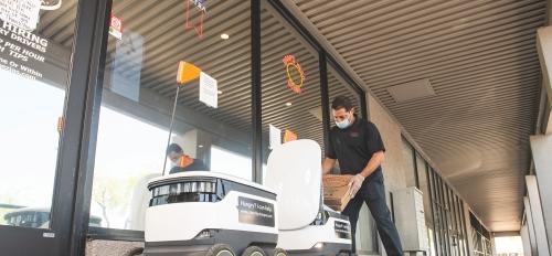robot deliveries at Venezia's
