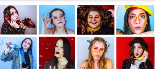 thumbnails of women dressed as sketch characters
