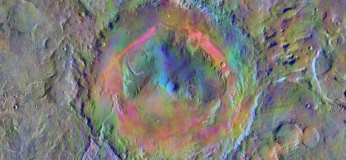 Gale Crater seen by the THEMIS camera