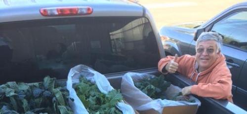 Paris Masek hauling veggies for Green on Purpose / Courtesy photo