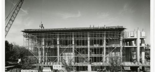 Construction of Hayden Library in 1965