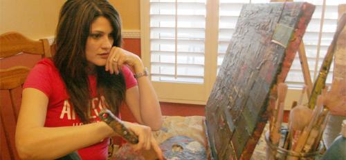 Heather Bimonte-Nelson painting