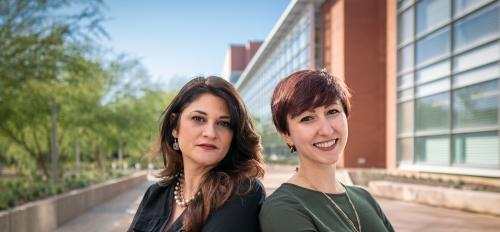 Heather Bimonte-Nelson and Stephanie Koebele, researchers in the ASU Department of Psychology