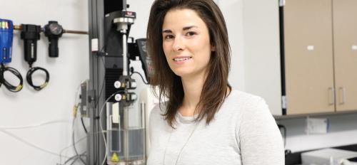Julianne Holloway in her laboratory