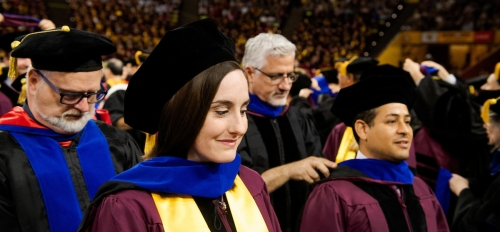 Graduate students receive honors at ASU commencement