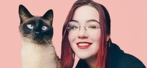 ASU interdisciplinary studies graduate Taylor Kephart with her cat