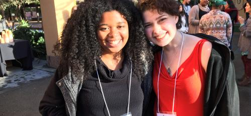 Alexis Moore (ASU) and Emma Plotkin (Bennington College) at the Future Arts Forward Conference in California