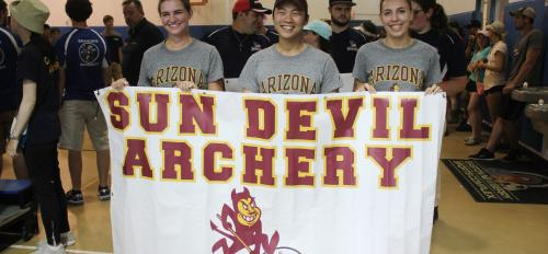 Sun Devil Archery team members