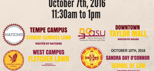 flyer for ASU's Indigenous Peoples Day