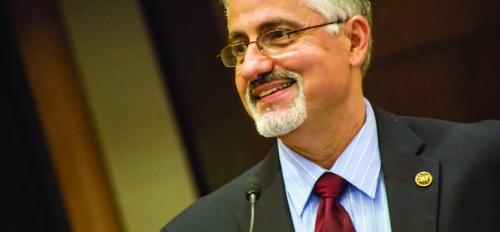 Professor Kamil Kaloush speaks at an International Road Federation conference