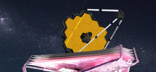 Artist's conception of the James Webb Space Telescope.