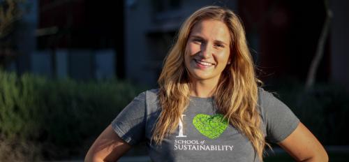 ASU sustainability junior, Isabelle Lishewski