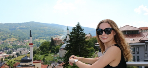 ASU political science major Marija Drozdek during her time in Bosnia