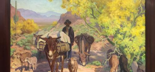 """""""The Stragglers"""" painting"""