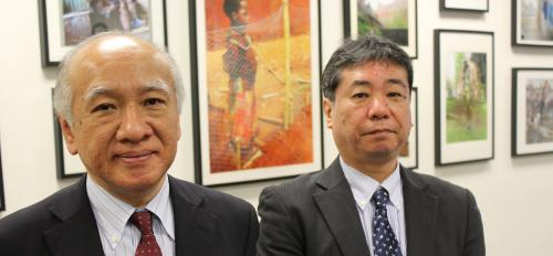 Meiji University professors Takumi Takeda (left) and Hisakazu Kato (right)