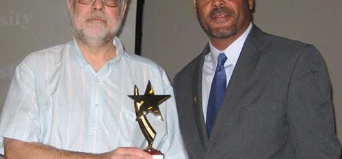 Professor Michael E. Smith and Associate Dean of Students Alonzo Jones