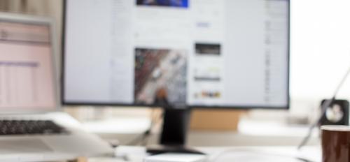 computer, monitor, social media