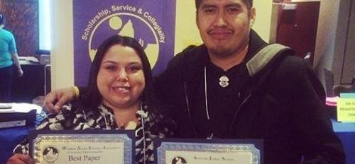 ASU American Indian grad students Naomi Tom and Justin Hongeva