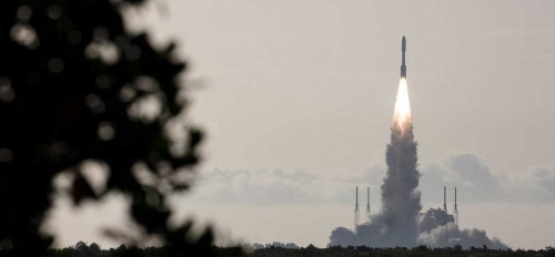 United Launch Alliance Atlas V rocket with NASA's Mars 2020 Perseverance rover onboard launches from Space Launch Complex 41 at Cape Canaveral Air Force Station, Thursday, July 30, 2020