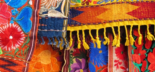 Colorful textiles in honor of National Hispanic Heritage Month