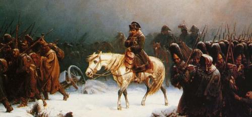"""Napoleon's Retreat from Moscow,"" Adolf Northern (1828-1876)"