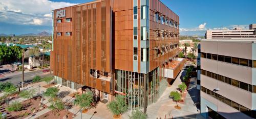 outside of ASU nursing building in Downtown Phoenix