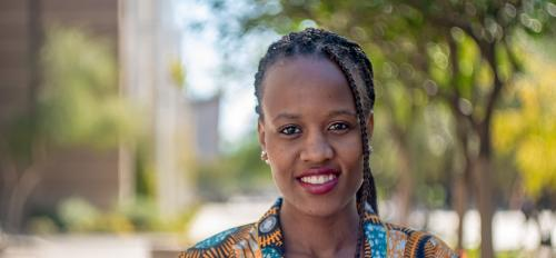 , Thato Seerane, a senior in the Arizona State University Department of Psychology and a student in Barrett, the Honors College, has worked on improving literacy in South Africa.