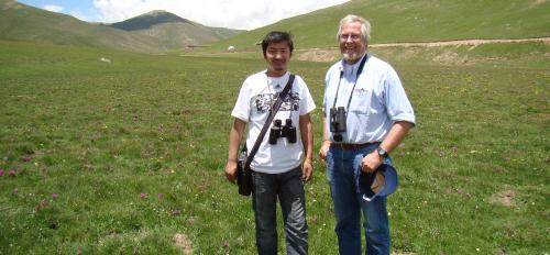 Graduate student Palden Choying and ASU professor Andrew Smith