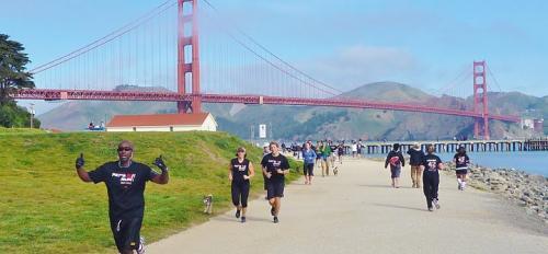 Pat's Run Shadow Run in San Francisco