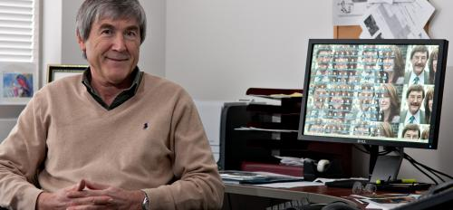 portrait of Paul Davies in his office