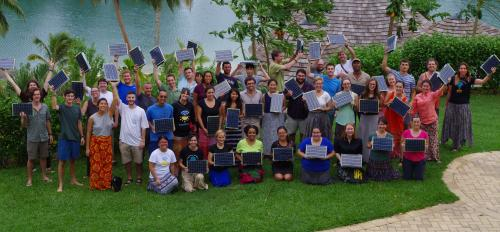 ASU students with Peace Corps volunteers and teachers in Vanuatu