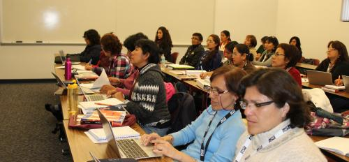 Peruvian students in class