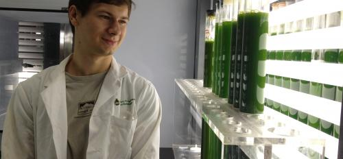 Phillip Carrier at the Arizona Center for Algae Technology and Technology