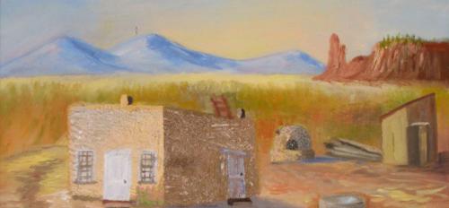Painting by Gertrudes Chávez