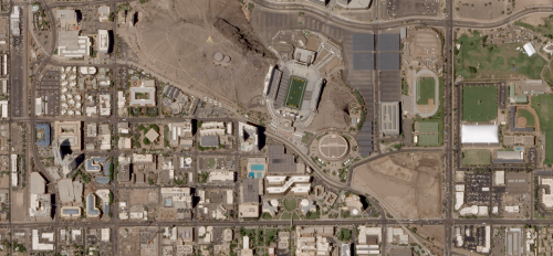 Satellite photo of ASU Tempe campus by company Planet