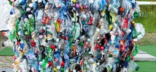 Bale of plastic to be recycled