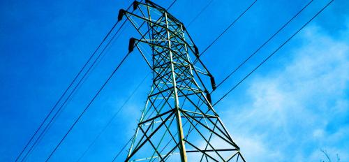 A power-line pylon.