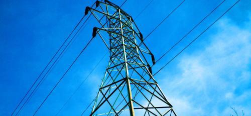 A power-line pylon.