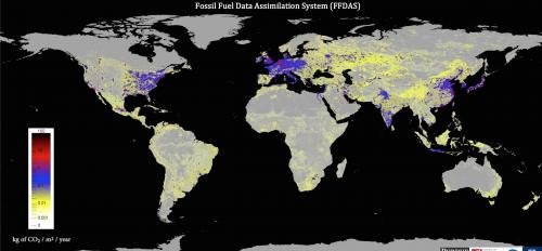 Global fossil fuel CO2 emissions