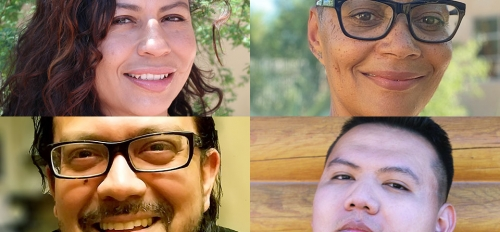 Photos of four Projecting All Voices fellows.