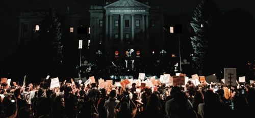 Protest in front of White House