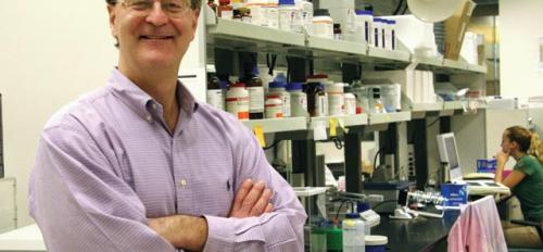 Bruce Rittman in lab