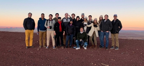 ASU design students pose for a group photo in northern Arizona